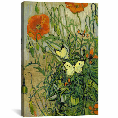jcpenney.com | Icanvas Butterflies And Poppies Canvas Art