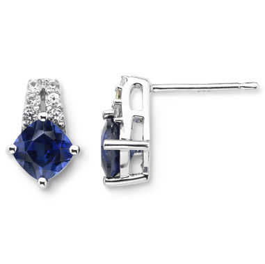 jcpenney.com | Lab-Created Blue & White Sapphire Earrings Sterling Silver
