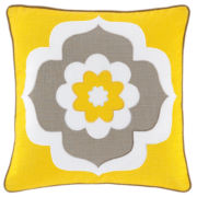 Happy Chic by Jonathan Adler Lola Flower Square Pillow