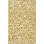 Martha Stewart Rugs™ Geranium Leaf Rectangular Rugs – Hazelnut