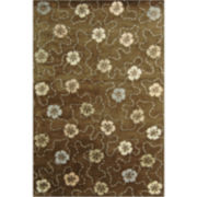 Martha Stewart Rugs™ Garland Rectangular Rugs – Mocha