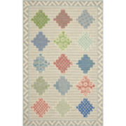 Martha Stewart Rugs™ Patchwork Rectangular Rugs – Pewter Gray
