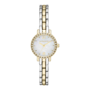 jcpenney.com | Liz Claiborne® Womens Round Face Mini Glitz Watch