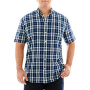 The Foundry Supply Co.™ Short-Sleeve Madras Plaid Shirt-Big & Tall
