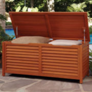 Montego Bay Large Wood Outdoor Deck Box