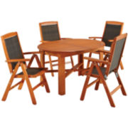 Bali Hai 5-pc. Wood Outdoor Dining Set