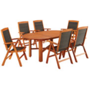 Bali Hai 7-pc. Wood Outdoor Dining Set
