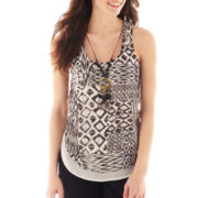 by&by Aztec Print Necklace Top