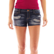 Arizona Raw-Hem Rhinestone Shorts