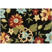 Haven Memory Foam Floral Rectangular Rug