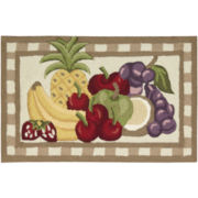 Nourison® Fruit-Print Washable Rectangular Rug