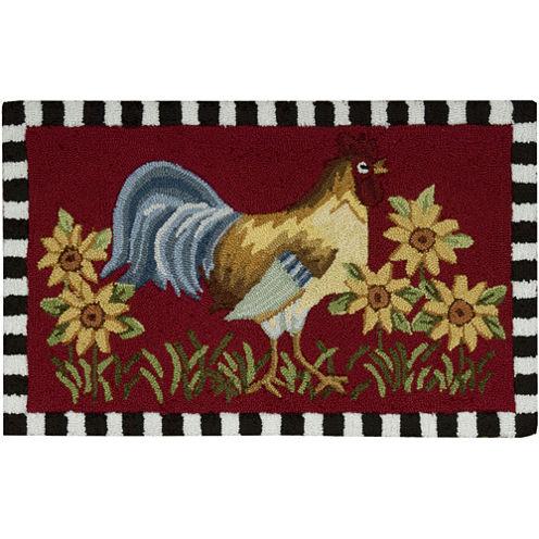 Nourison® Rooster Washable Rectangular Rug