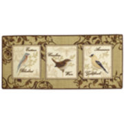 Birds and Butterflies Washable Rug
