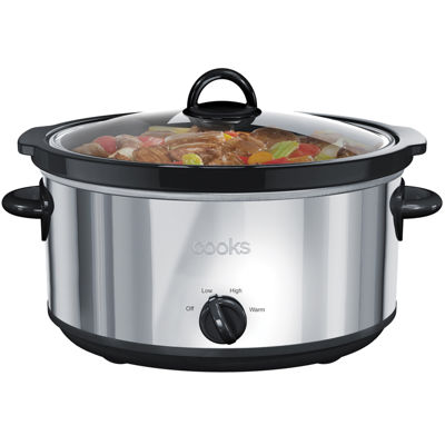 cooks 6 qt stainless steel slow cooker jcpenney. Black Bedroom Furniture Sets. Home Design Ideas