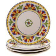 Amalfi Set of 4 Dinner Plates