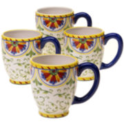 Certified International Amalfi Set of 4 Mugs
