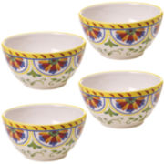 Certified International Amalfi Set of 4 Ice Cream Bowls