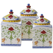 Certified International Amalfi 3-pc. Canister Set