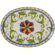 Certified International Amalfi Oval Serving Platter