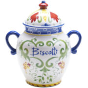 Certified International Amalfi Biscotti Jar