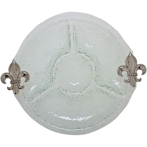 Thirstystone® Fleur-de-Lis 4-Section Serving Bowl