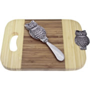 Thirstystone Owl Mini Serving Board with Spreader