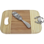 Thirstystone Crab Mini Serving Board with Spreader