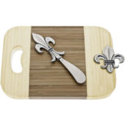 Thirstystone Fleur-de-Lis Mini-Serving Board with Spreader
