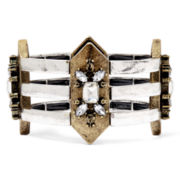 Mixit™ Antiqued Two-Tone Medallion Stretch Bracelet