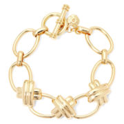 Monet® Gold-Tone Criss-Cross Toggle Bracelet