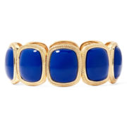 Monet® Blue Stone Gold-Tone Square Stretch Bracelet