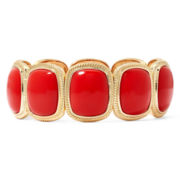 Monet® Red Stone Gold-Tone Square Stretch Bracelet