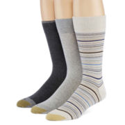 Gold Toe® 3-Pk. Dress Crew Socks