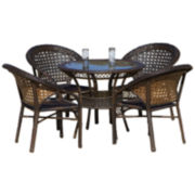 Olivia 5-pc. Outdoor Wicker Dining Set