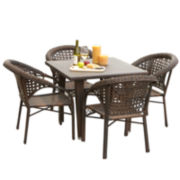 Rieka 5-pc. Outdoor Dining Set