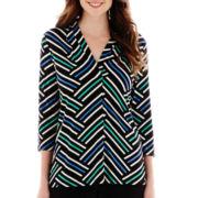 Worthington® 3/4-Sleeve V-Neck Knit Top - Tall