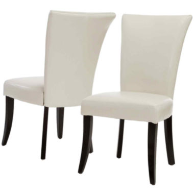 jcpenney.com | Collier Set of 2 Bonded Leather Parsons Dining Chairs