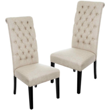 jcpenney.com | Milana Set of 2 Tufted Roll-Top Dining Chairs