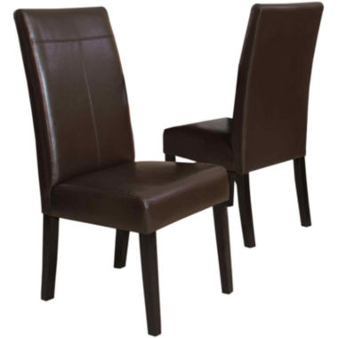 jcpenney.com | Rocco Set of 2 Faux-Leather Dining Chairs
