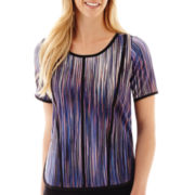 Worthington® Short-Sleeve Piped Top