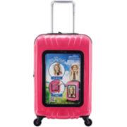 "Traveler's Club® Selfie Club™ 20"" Customizable Rolling Hardside Carry-On Suitcase"