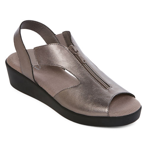St. John's Bay® Sabina Strap Comfort Wedge Sandals - Wide Width