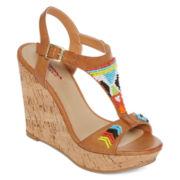 Arizona Miranda Beaded Wedge Sandals
