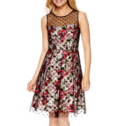 Studio 1® Sleeveless Floral Print Fit and Flare Dress