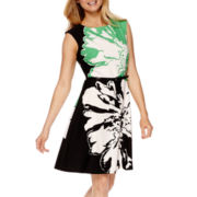 Studio 1® Sleeveless Print Fit-and-Flare Dress
