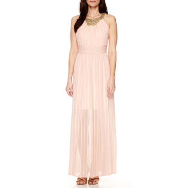jcpenney.com | Signature by Sangria Sleeveless Beaded Long Dress - Petite