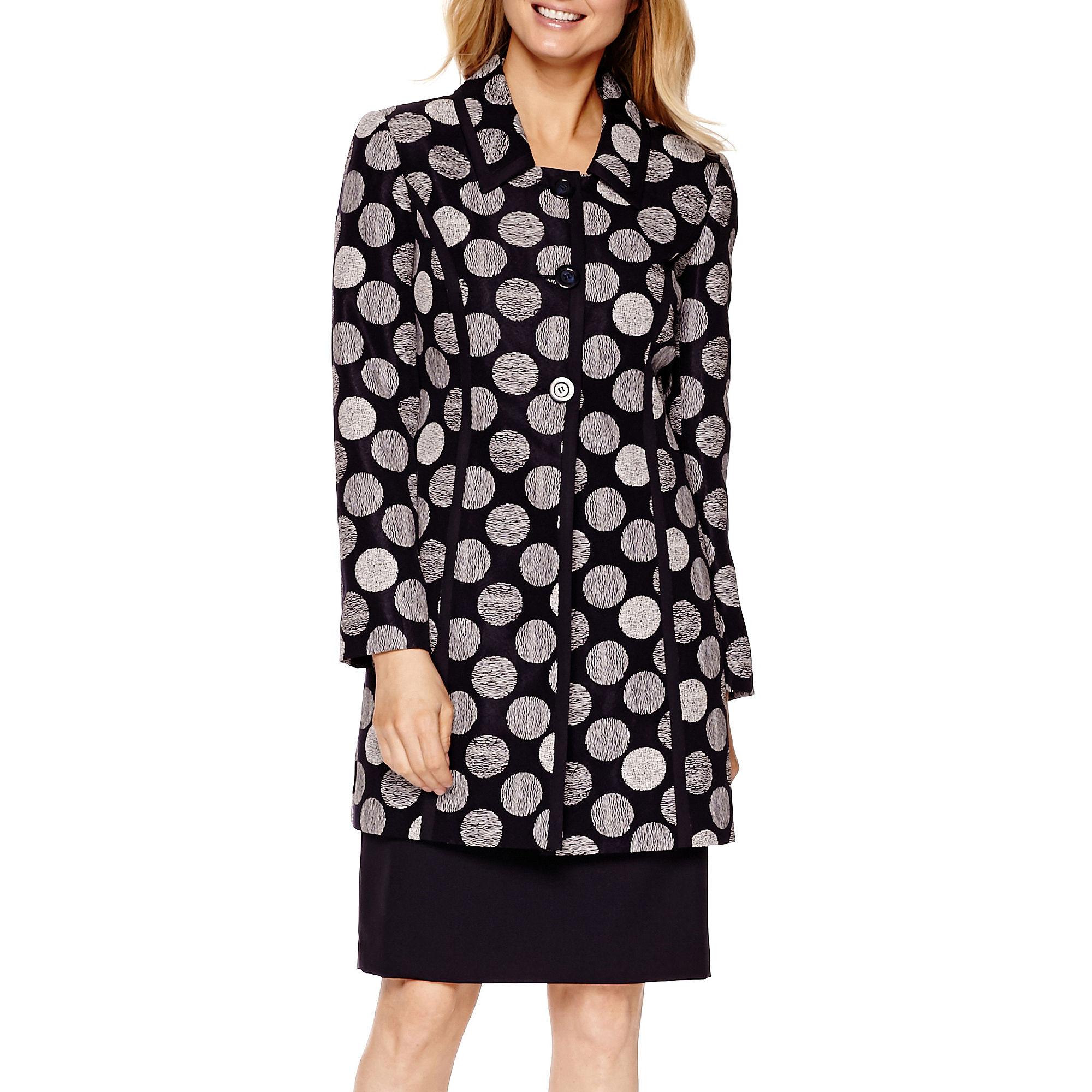 Isabella Long-Sleeve Jacquard Jacket and Skirt Suit Set