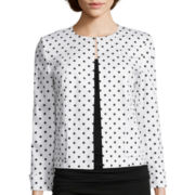 Chelsea Rose Long-Sleeve Polka Dot Jacket