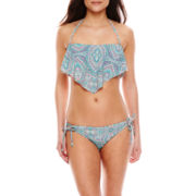 Ninety-Six Degrees Gypsy Power Paisley Swim Top, Hipster Swim Bottoms or Cover-Up