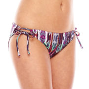 Ninety-Six Degrees On The Horizon Side-Tie Hipster Swim Bottoms